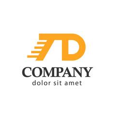 Td company logo template design vector