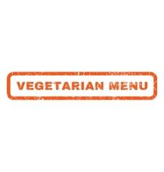 Vegetarian Menu Rubber Stamp vector