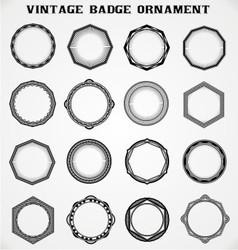 Vintage badge ornament vector
