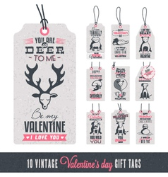 Vintage Valentines Day Gift Tags vector image