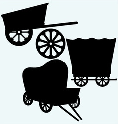 Vintage wagons to transport vector