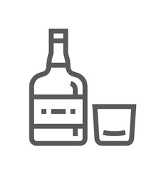 Whiskey drink and beverage line icon vector