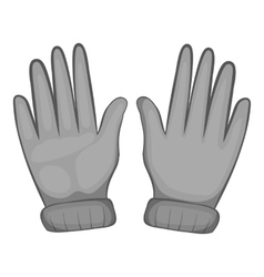 Winter gloves icon black monochrome style vector image
