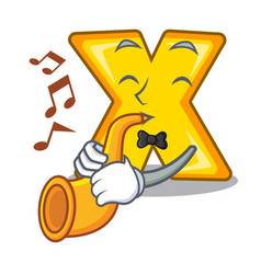 With trumpet cartoon multiply sign for calculate vector
