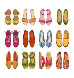 womens shoes and sneakers set vector image
