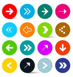 Arrows Set in Colorful Circles Perfect for Web vector image vector image