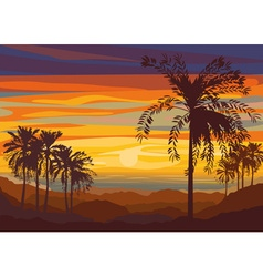 Beautiful Summer Sunset vector image vector image