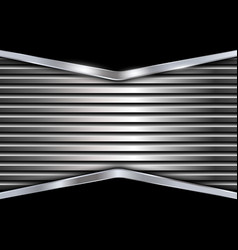 Black and silver metal background vector image vector image