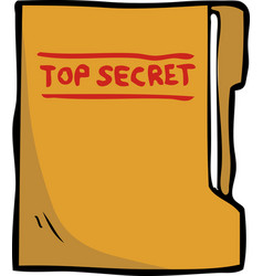 cartoon doodle secret folder vector image