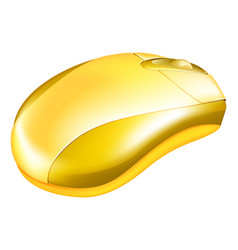 golden computer mouse vector image vector image