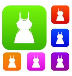 little dress set collection vector image