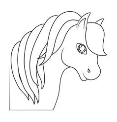 magical unicorn icon vector image vector image
