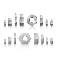 metallic nuts vector image vector image