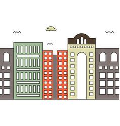 modern street scenery in flat design style vector image