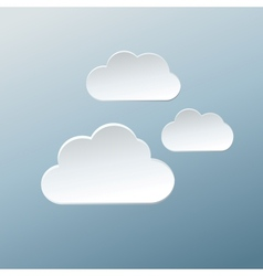Paper Clouds vector image