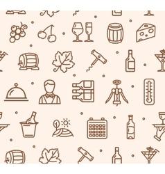 Wine Making Drink Background Pattern vector image