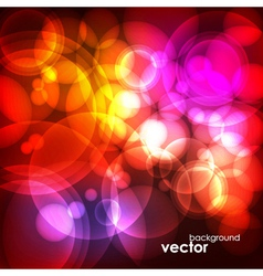 Abstract Bubble Glow Background vector image