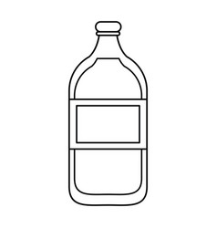 mineral water bottle fresh thin line vector image vector image