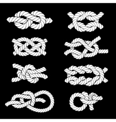 Rope Knots Icons vector image vector image