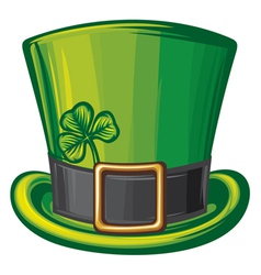 St Patrick green hat vector image