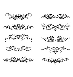Vignettes and monograms vector image vector image