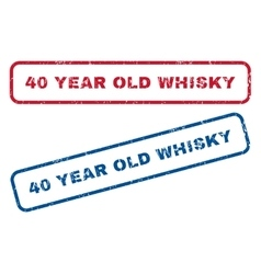 40 Year Old Whisky Rubber Stamps vector image vector image