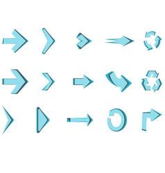 arrows icon set circle sign design creative vector image