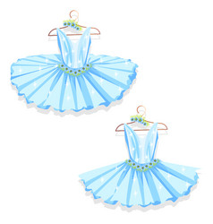 blue tutu on the hanger vector image