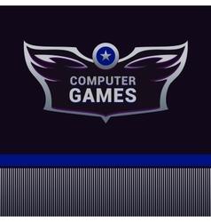 Computer Games logo vector image