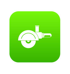 high speed cut off machine icon digital green vector image