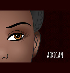 Poster design with african woman face vector