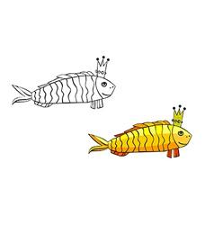 Royal fish vector