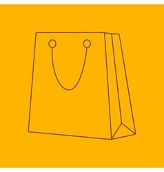 Shopping bag line icon vector image
