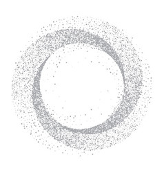 silver glitter circle abstract background vector image vector image
