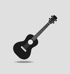 Ukulele icon on grey background flat design vector image vector image
