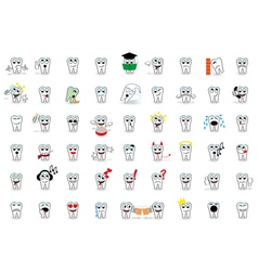 53 set tooth smiles vector