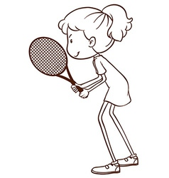 A tennis player vector image vector image