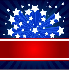 American starburst background vector image vector image