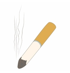 Cigarette butt icon cartoon style vector image