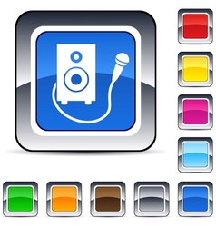 karaoke square button vector image
