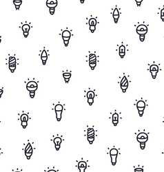 Light bulbs pattern vector image vector image
