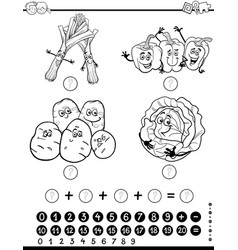 maths activity worksheet coloring page vector image vector image
