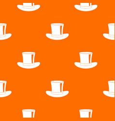 silk hat pattern seamless vector image vector image