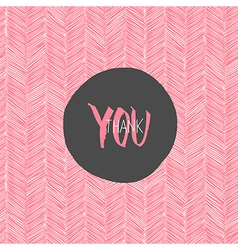 thank you hand drawn card vector image vector image
