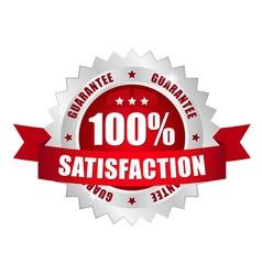 100 prozent satisfaction button vector