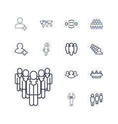 13 community icons vector