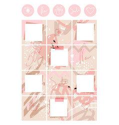 A modern muted pink palette for ladies puzzle vector