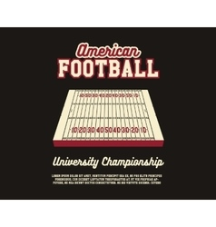 American Football university championship layout vector