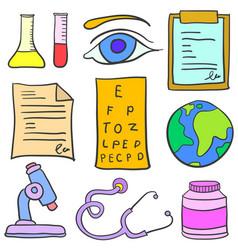 Art of medical element doodles vector