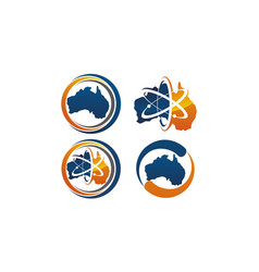 australia technology and science set vector image
